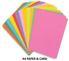A4 Coloured Craft Sheets ~ Printer Copier Packs ~ 80gsm Paper or 160gsm Card