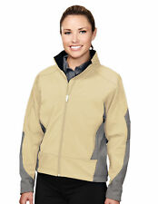 Tri-Mountain Women's Waterproof Welded Sleeve Pocket Shell Full Zip Jacket. 6425