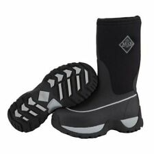 MUCK BOOT KIDS RUGGED BOOTS YOUTH KIDS BLACK/SILVER BOOTS RGD-000