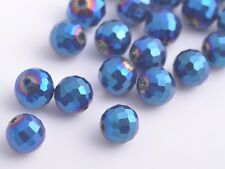 71pcs Charm Round 96Facet Finding Glass Crystal Loose Spacer Beads 8mm FREE SHIP