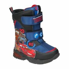 Disnay Cars McQueen Snow Boots Size 5 6 7 8 9 10 Navy Winter Shoes