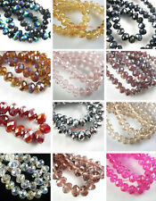 4x6mm 50~200pc Glass Crystal Loose Beads Spacer Findings Color Faceted FREE SHIP