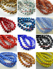 4x6mm 50~200pc Glass Crystal Loose Beads Spacer Findings Color Faceted New-3