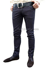 Drainpipes trousers jeans vtg 80s 60s indie mod pin stripe grey black hipsters