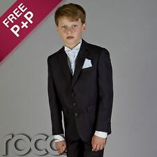 PAGEBOY OUTFITS FOR WEDDING NAVY BLUE SUIT AGE 6M-16 YRS