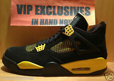 NIKE AIR JORDAN RETRO 4 IV THUNDER 2012  Black Yellow in hand now pics below