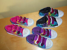 Girls Tennis Canvas  Shoes,Fushia,Black  and Purple color, with velcro straps!!