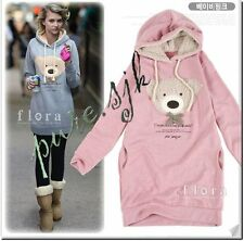 Women Hoodies Winter Outwear Cute bear head hooded sweater hooded Jumper jacket
