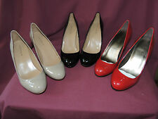 Ann Taylor signature pumps patent synthetic leather retail $155 NEW W/BOX