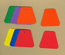 Your choice of colors on Trapezoid Gift Tags #3 Die Cuts - AccuCut