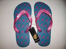 Rocawear Sandals Flip Flops Thongs Girls Blue Pink RW Sizes 1, 3, 4  NWT