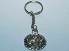 Lucky Sixpence Birthday Keyring - Genuine polished sixpence 1953 to 1967
