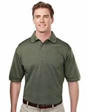 Tri-Mountain Men's Big And Tall Microfiber Basket Pattern Golf T-Shirt. 410-Tall