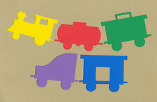Your choice of colors on Locomotives + 4 Cars Die Cuts - AccuCut