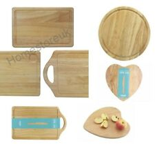 SOLID RUBBER WOOD RECTANGULAR BOARD BREAD ROLL CUTTING MEAT CHOPPING FOOD DICING