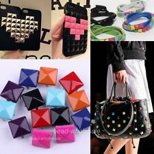 New Pyramid Stud Rivet Punk Shoes Bag Belt Leather Craft Jewelry Accessories