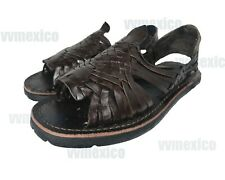mens LEATHER MEXICAN SANDALS brown HUARACHE made in mexico SHOES *ALL SIZES*
