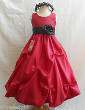 NEW APPLE RED BRIDESMAID FLOWER GIRL DRESS 2 4 6 8 10 12 14
