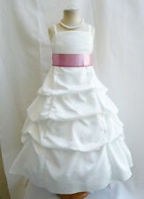 87G  SPU IVORY DUSTY ROSE FLOWER GIRL CHILDREN PARTY DRESS 4 6 8 10 12 14