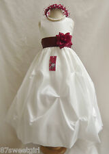 PO1 PICK UP IVORY / APPLE RED  KIDS PICK UP  PAGEANT FLOWER GIRL DRESS ALL SIZE