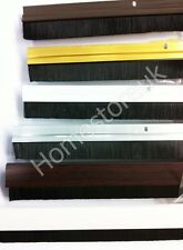 """914MM/36"""" DRAUGHT SEAL STOPPER EXCLUDER DOOR BRISTLE BRUSH STRIP WITH FITTINGS"""