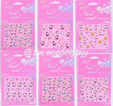 New Hello Kitty Nail Stickers 3D NAIL ART STICKERS - 24 designs UK Stocks
