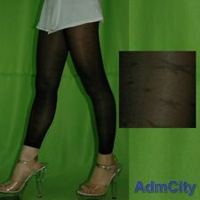 Admcity Spandex Sheer Footless Tights Footless Pantyhose with Star Pattern Black