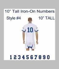 "10"" Tall Iron-On Number for Football Baseball Jersey Sports T-Shirt Style #7"