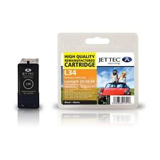 Jettec Remanufactured No.34 Black Ink Cartridge for Lexmark X5410 & more