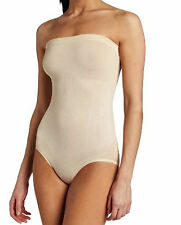 MAIDENFORM CONTROL IT! SHINY STRAPLESS BODY BRIEFER #12450 BEIGE NWT