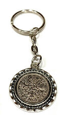 Lucky Sixpence Birthday Keyring - Genuine polished sixpence 1953 to 1967 - Gift