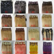 "20""~36"" Women's Remy Human Hair Clips In Extensions 8Pcs 105g / 10pcs 140g"