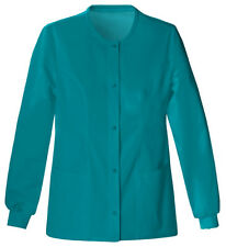 Scrubs Cherokee Luxe Warm-Up Jacket 1330 Teal FREE SHIPPING!
