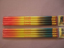 Pack of 4 Personalised Multicoloured Pencils with Rubbers - names H to K