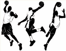 Big Basketball Players Boy or Girls Room Mural Wall Vinyl Decal - NEW - 01