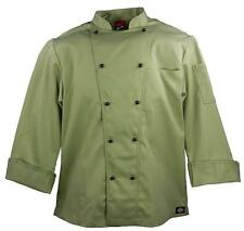 NWT Dickies CW070302 CELERY Green Executive Chef Coat 34-54 Twill Stretch