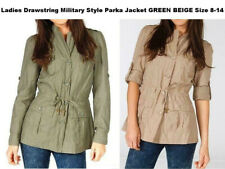 LADIES PLUS SIZE8-14 DOUBLE BREASTED MILITARY LONG COAT JACKET MAC TRENCH BLAZER