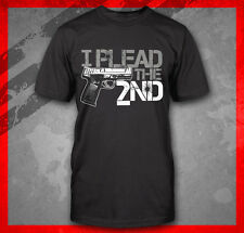 HAND GUN I PLEAD THE SECOND 2ND AMENDMENT PRO 9MM PISTOL CONCEAL CARRY T-SHIRT