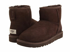NEW WOMEN UGG AUSTRALIA BOOT CLASSIC MINI CHOCOLATE BROWN 5854 FREE SHIPPING