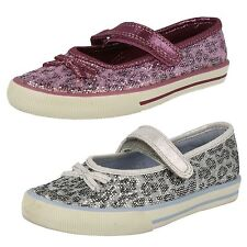 CLARKS INF GIRLS CASUAL VELCRO SHOES IN SILVER OR PURPLE FABRIC - GLAM IT