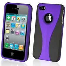 NEW STYLISH PURPLE GRIP SERIES HARD CASE COVER BUMPER FOR APPLE iPHONE 4  4G 4S