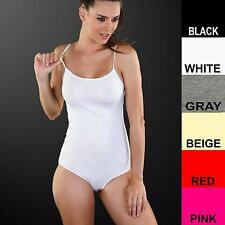 LADIES BODYSUIT - COTTON, THIN STRAPS, FULL STRETCH, BODY LEOTARD
