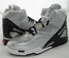 New Reebok Mens Pump TWILIGHT ZONE N-DROID Gray Black Dominique Wilkins Phone