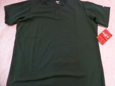 Youth Boys RAWLINGS KELLY GREEN Baseball ONE Button HENLEY JERSEY 100% POLYESTER