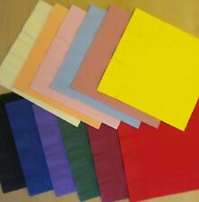 50 Top Quality 40cm 3 Ply Paper Napkins Birthday Wedding Many Colours Serviettes