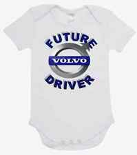 BABY ONE PIECE, ROMPER. ONESIE. printed with FUTURE VOLVO DRIVER brand new