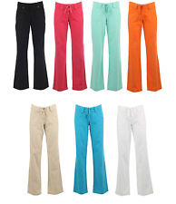 New Womens Ladies Linen Sexy Spring Summer Casual Wide Trouser Size 6 8 10 12 14