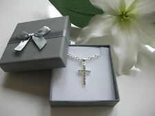 Beautiful Cross Necklace.Holy Communion,Confirmation,Bridesmaid Present/Gift Box