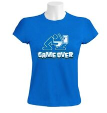 Game Over Toilet Women T-Shirt Drunk drinking beer funny WC