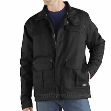 Dickies JACKETS Vigor Twill WATERPROOF BREATHABLE INSULATED LINED TJ641 BLACK